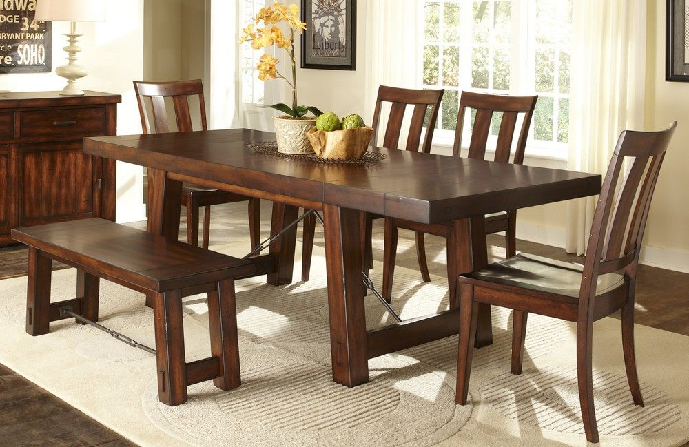 Image of: Rectangular Benches for Dining Room Tables