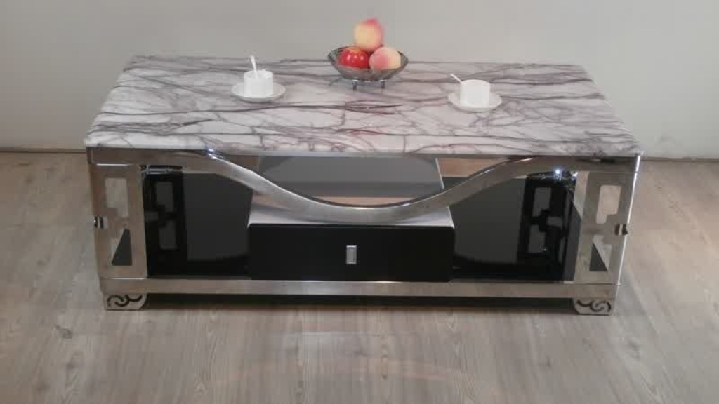 Image of: rectangular coffee table with glass top