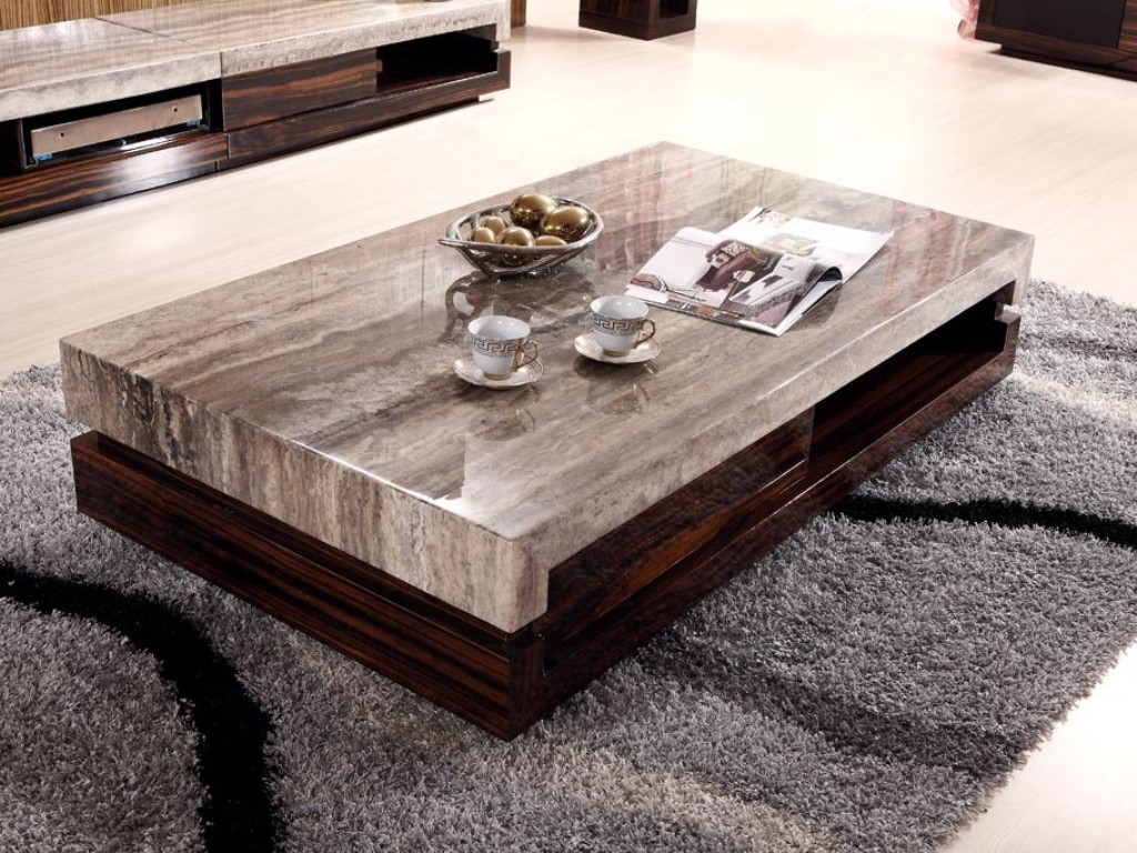 Image of: rectangular coffee table with stools