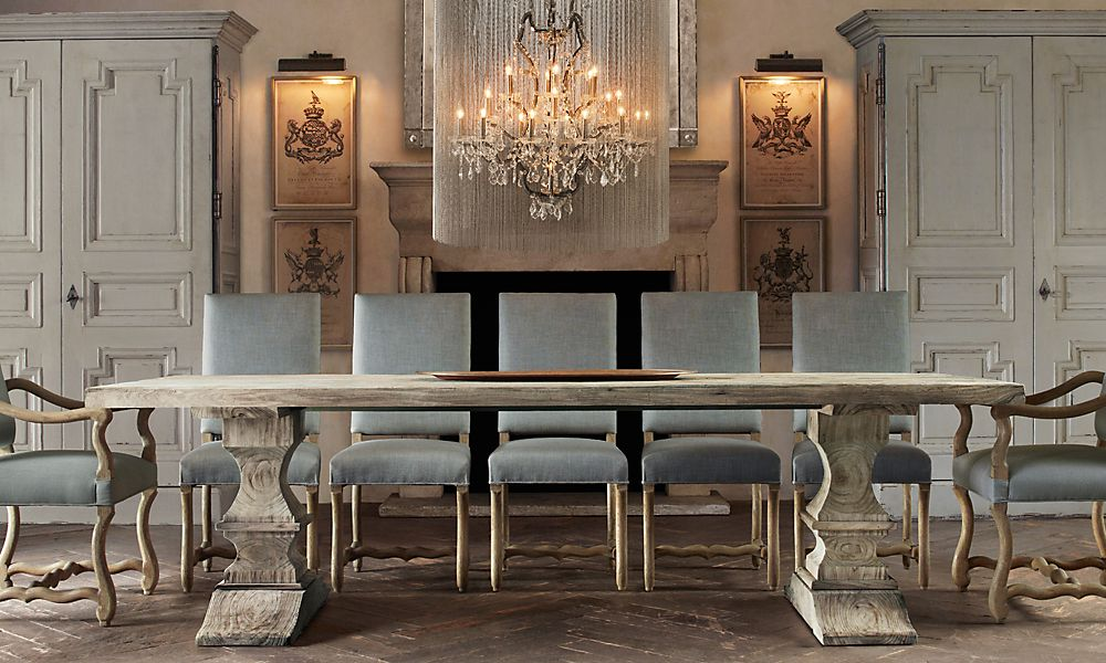 Picture of: Restoration Hardware Dining Room Table Decor