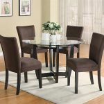 Round Dining Room Table Sets Glass Top