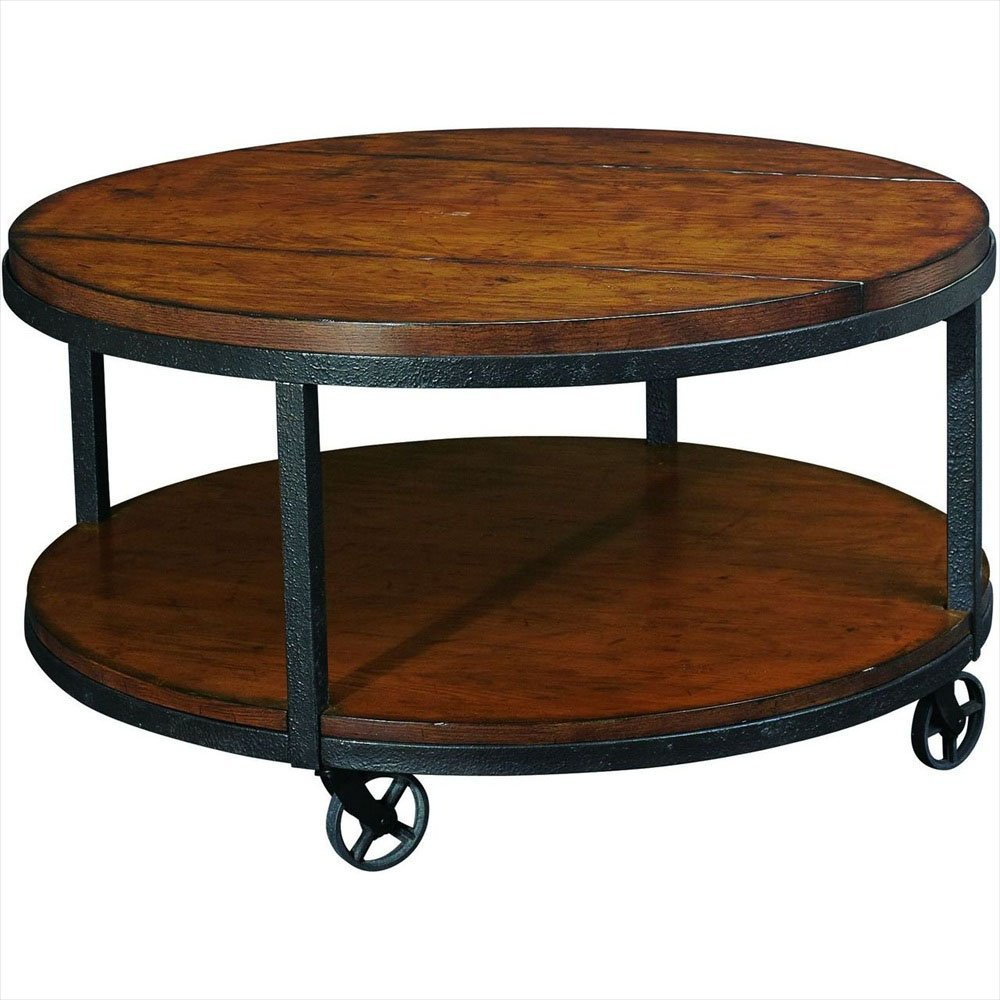 Picture of: Round Wood Coffee Table Rustic
