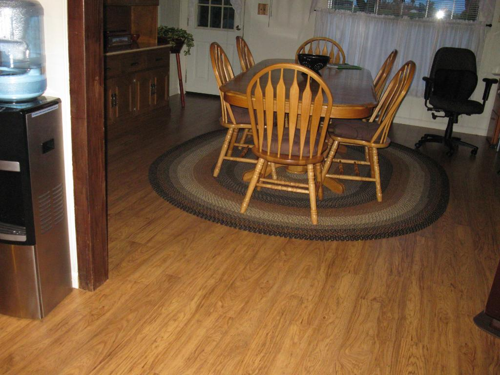 Picture of: Rug under dining table picture