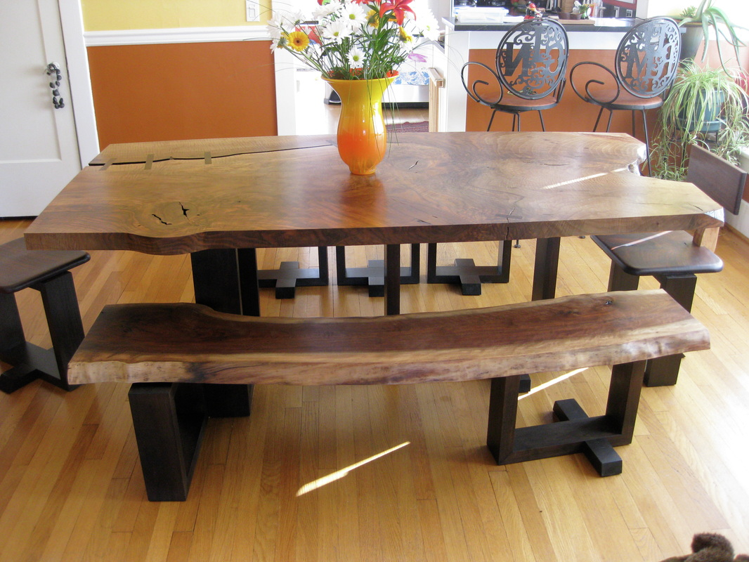 Picture of: Rustic Benches for Dining Room Tables
