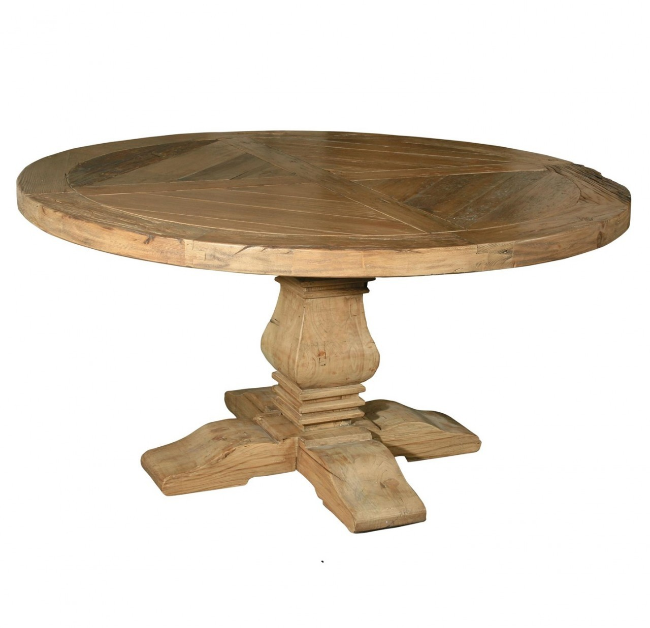 Image of: Solid wood round dining tables