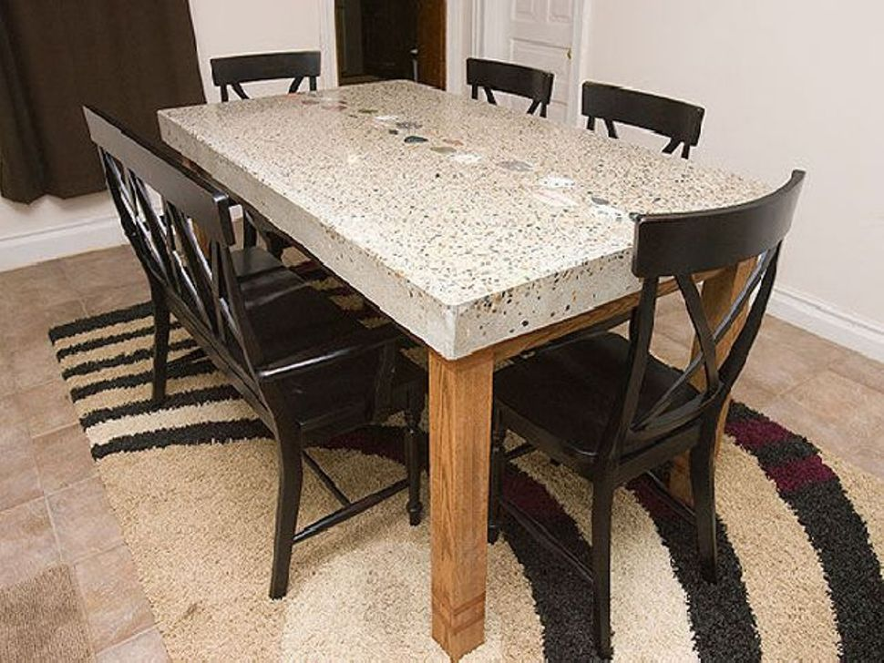 Picture of: Square Granite Dining Table Set