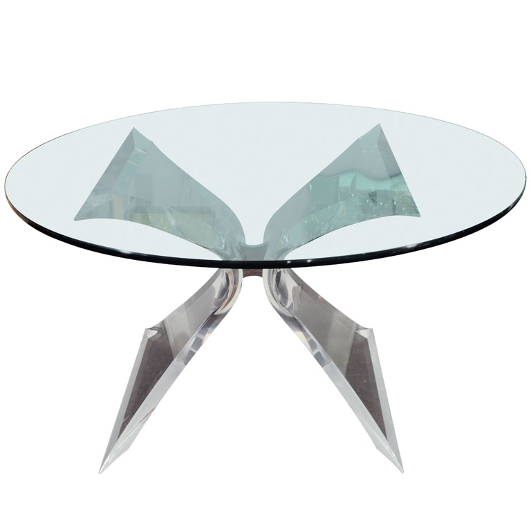Picture of: Style of Base for Glass Table