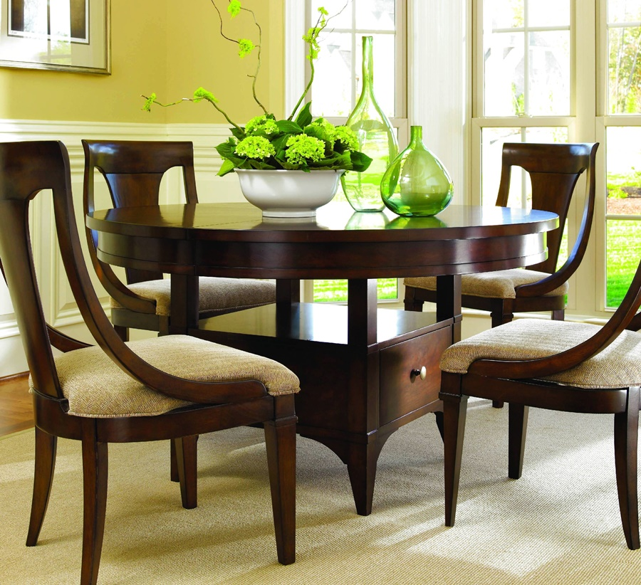 Image of: Thomasville Dining Table Cherry
