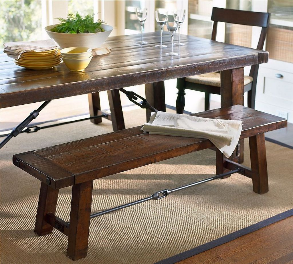 Image of: Traditional Benches for Dining Room Tables