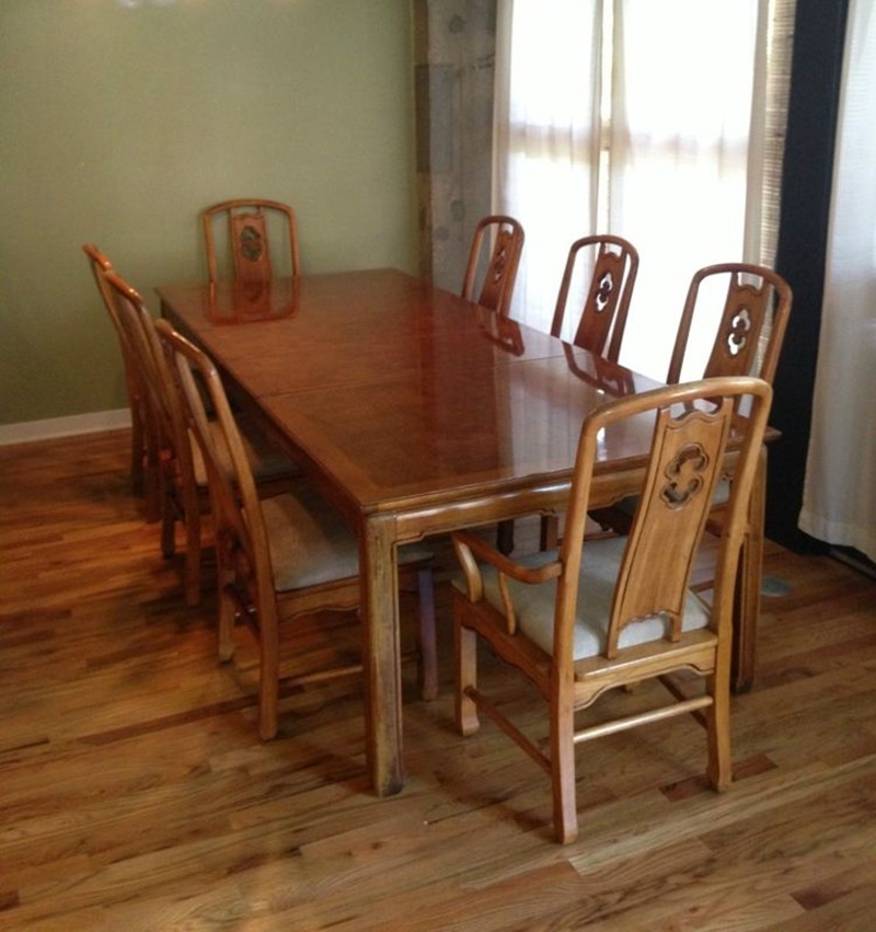 Image of: Traditional Thomasville Dining Table