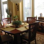 Traditional Rug Under Dining Table