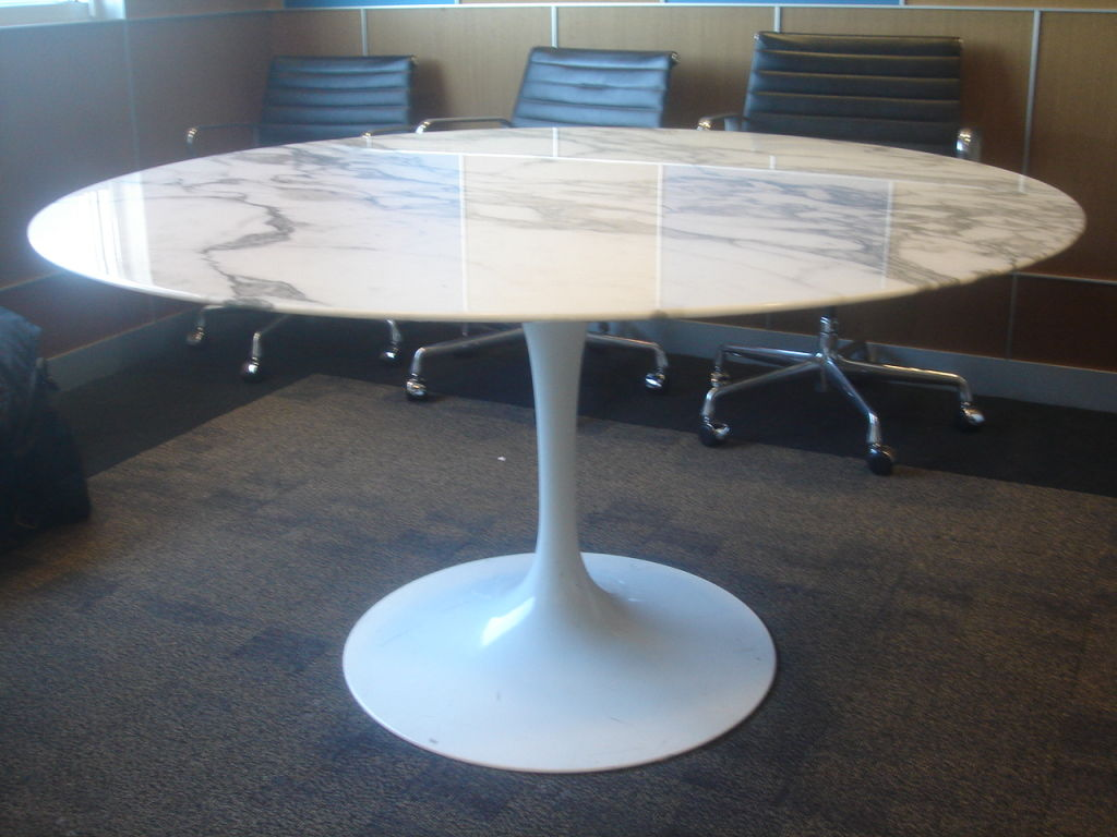 Picture of: White 54 Round Dining Table