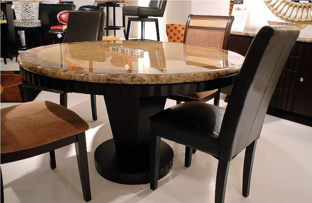 Picture of: White Granite Dining Table Set