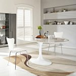 White Oval Dining Room Table Color