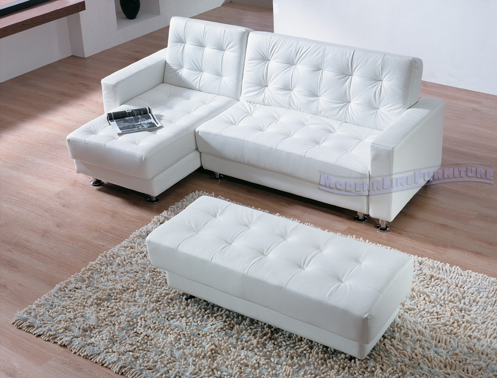 White Sleeper Sofa Sectional