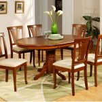 Wood Oval Dining Room Table And Chairs