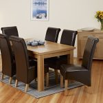 Wooden Extendable Dining Table Set