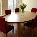 Wooden Oval Dining Room Table
