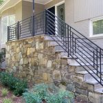 Decor Tips Entryways With Wrought Iron Railing For Stair