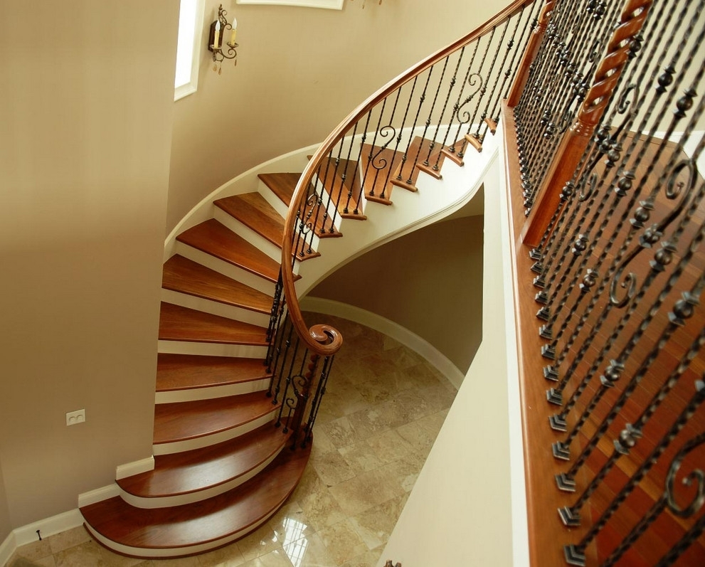 Picture of: Wood And Wrought Iron Stair Railing Wrought Iron Stair Railing