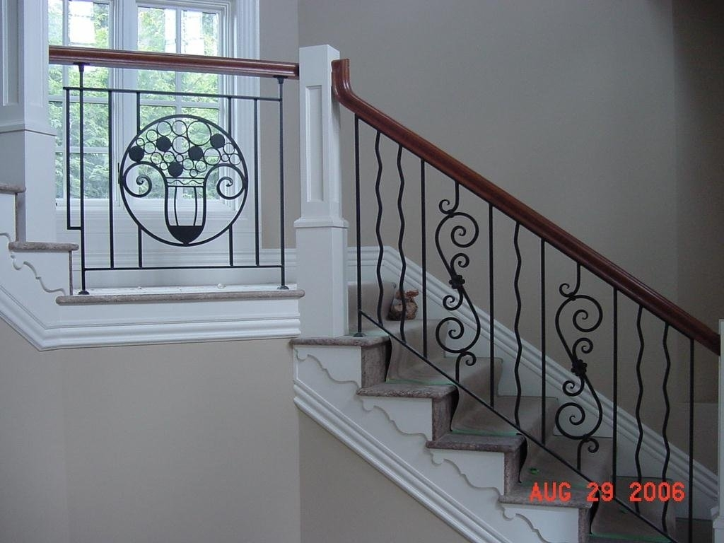 Picture of: Wrought Iron Staircase Designs Cost Interior Design Steel Stairs