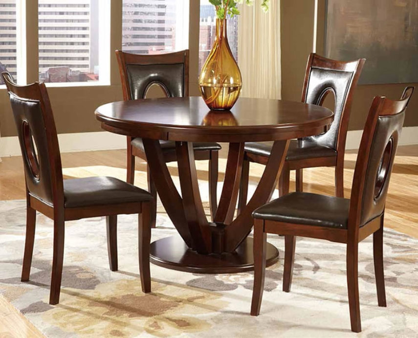 Image of: 54 inch round solid wood dining table