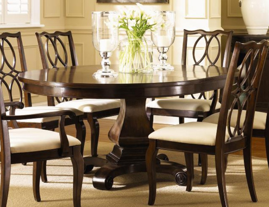 Image of: 60 inch round dining table and chairs