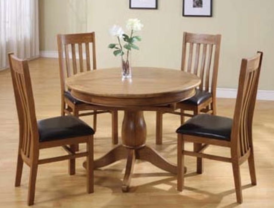 Image of: 60 inch round solid wood dining table