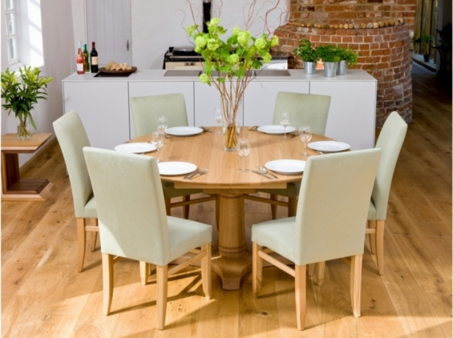 Image of: 60 round dining table and chairs