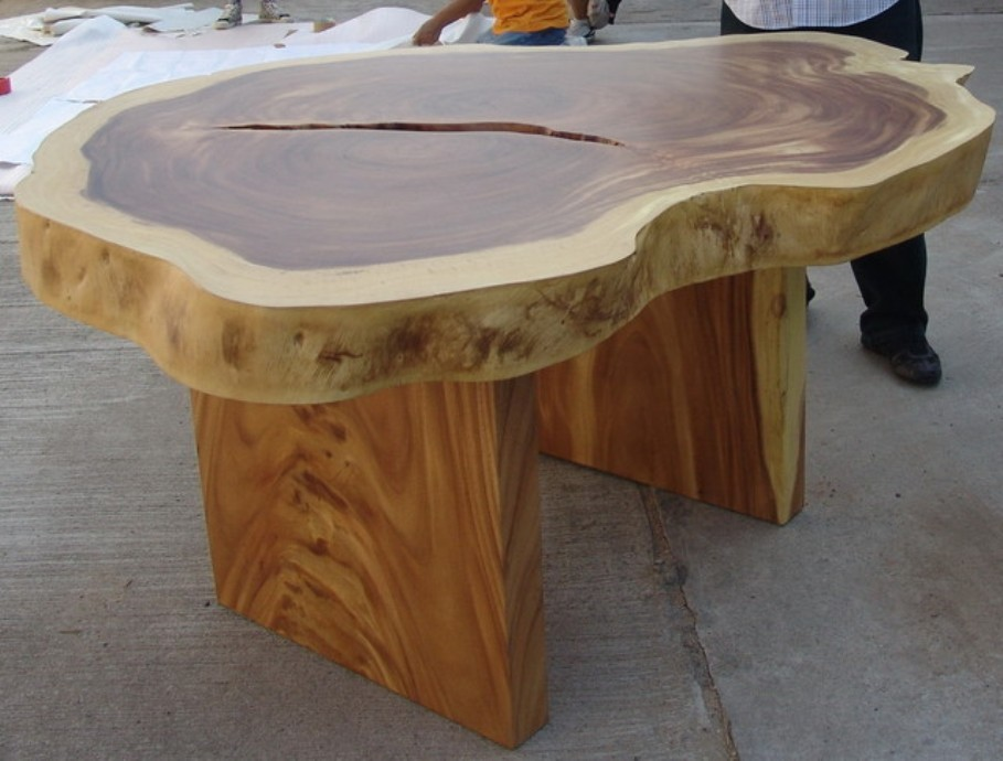 Image of: 60 Solid Wood Round Dining Table