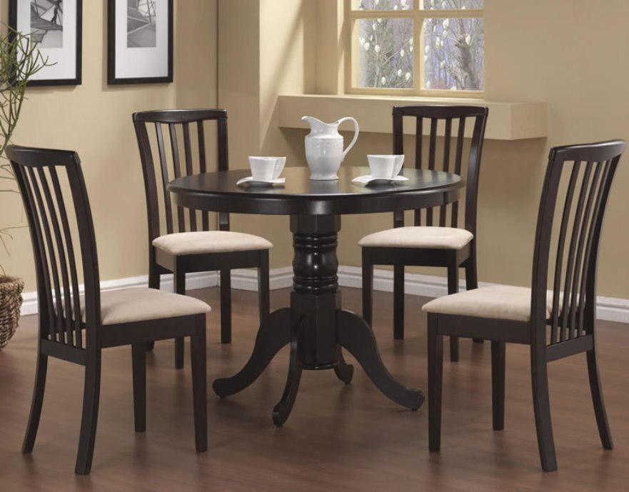 Image of: 72 inch solid wood round dining table