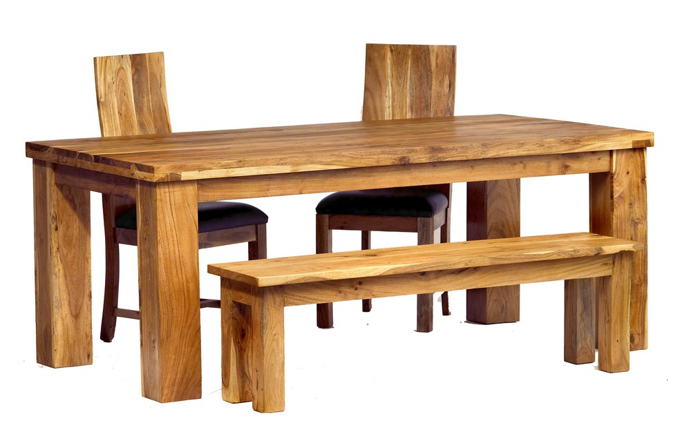 Image of: Acacia Wood Dining Furniture