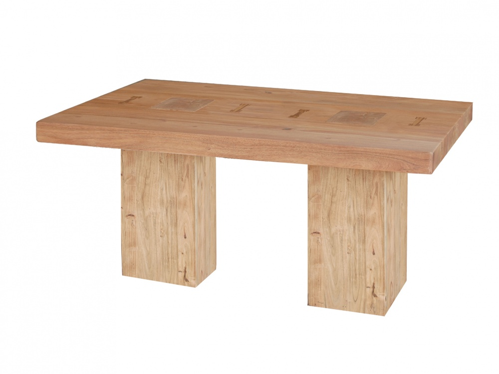 Image of: Acacia Wood Dining Room Table