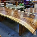 Acacia Wood Round Dining Table