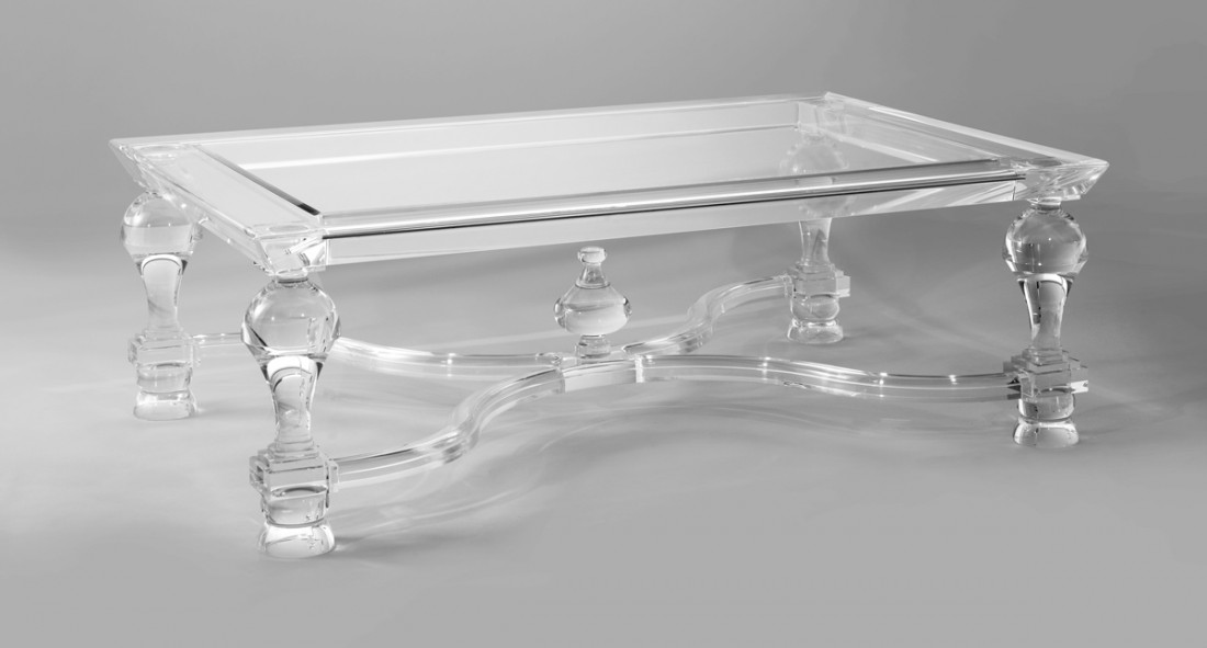 Image of: Acrylic Coffee Table Ideas