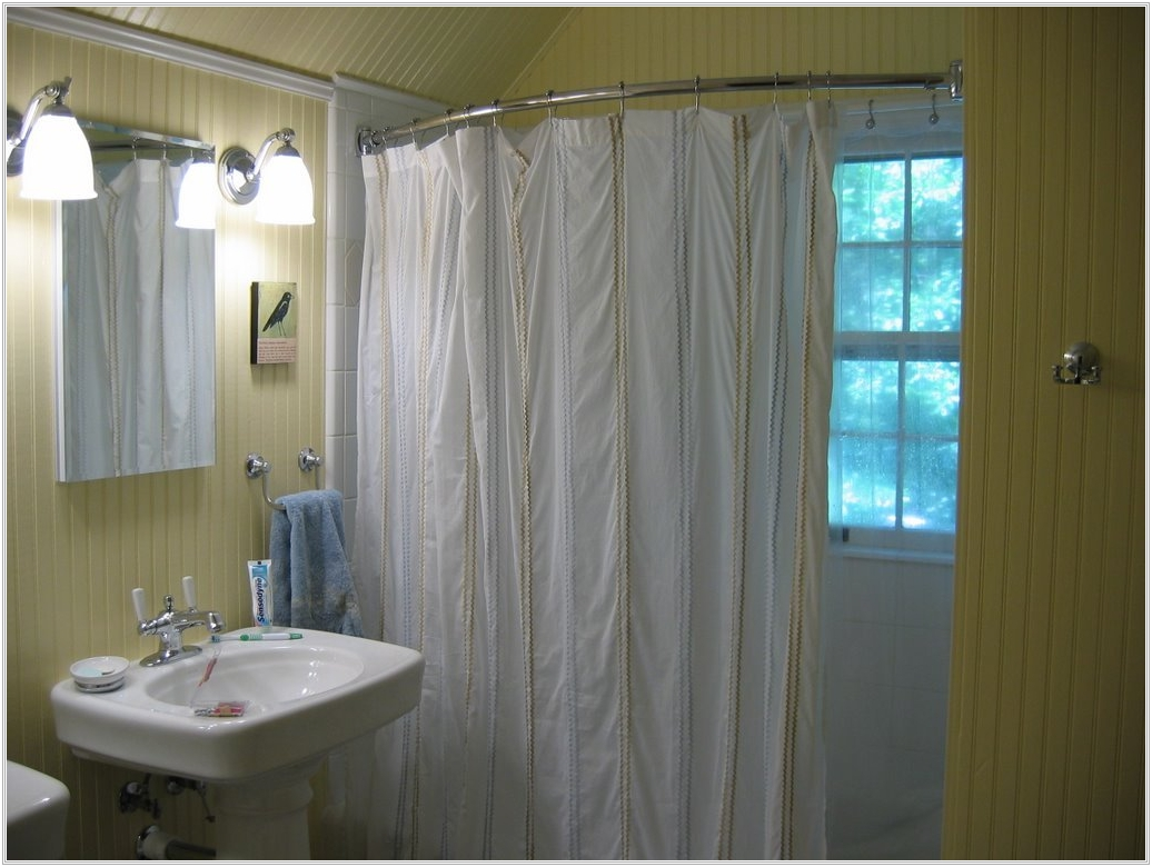 Image of: Adjustable Shower Curtains Rod Ideas