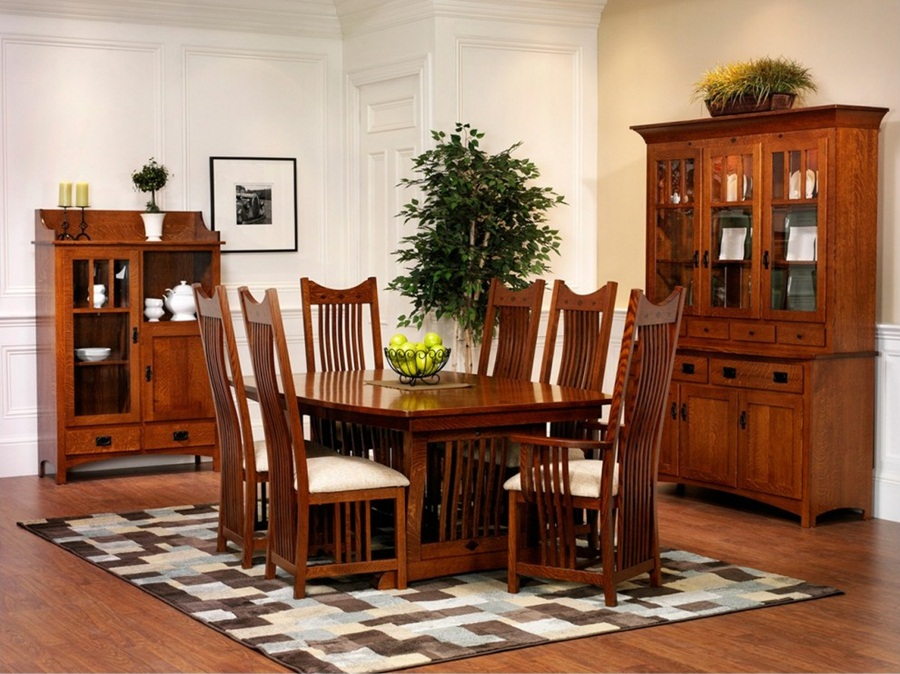 Image of: Amazing Mission Style Dining Table