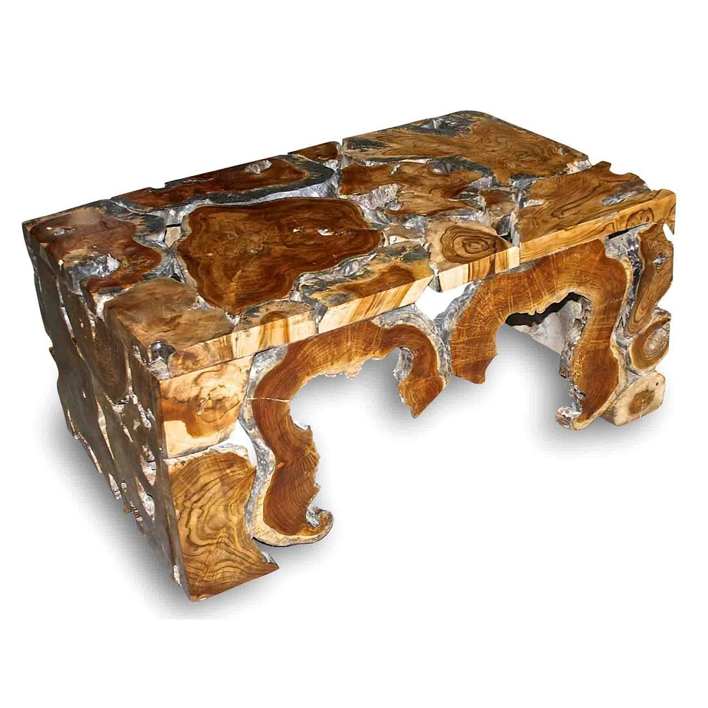 Image of: Amazing Natural Wood Coffee Table