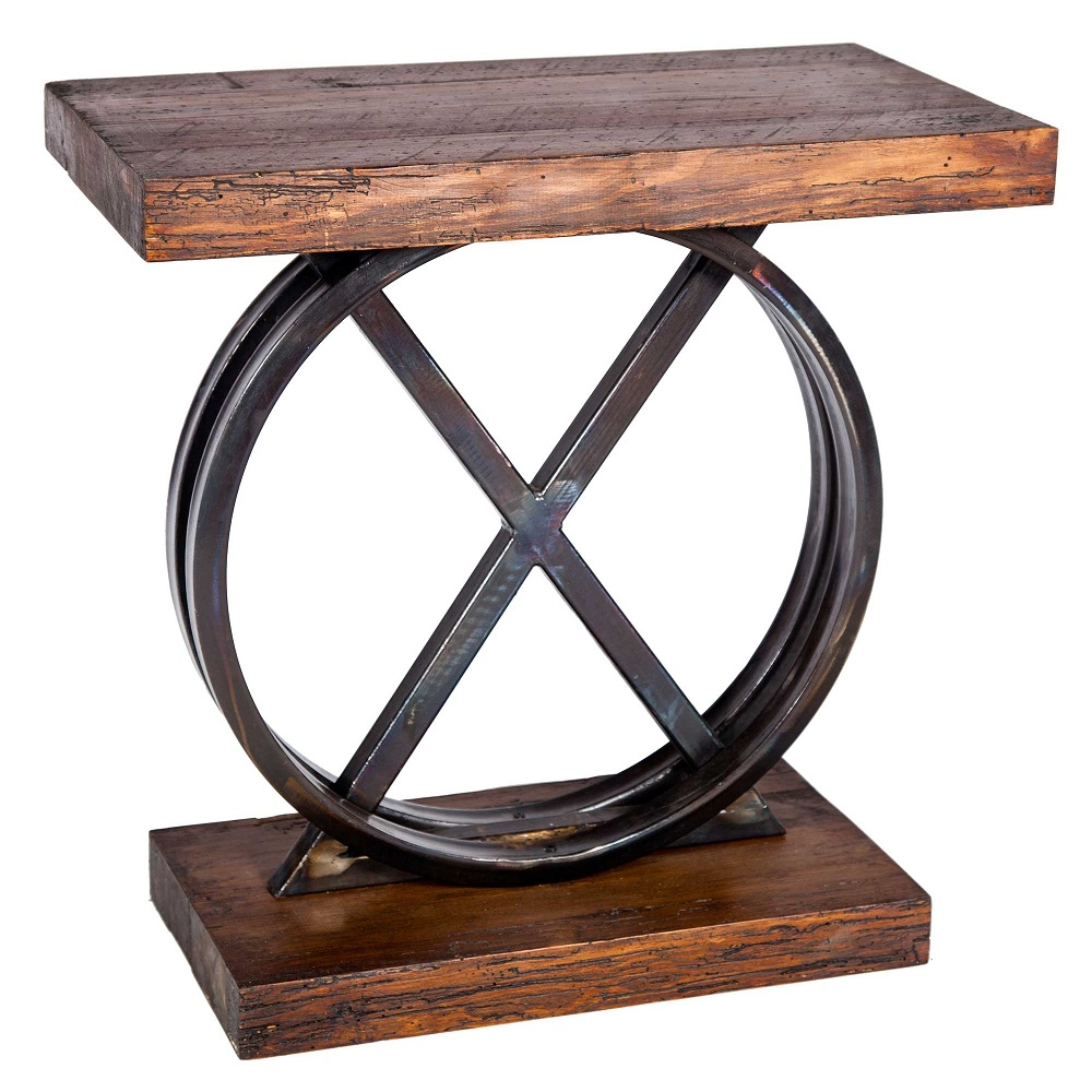 Picture of: Amazing Reclaimed Wood Side Table