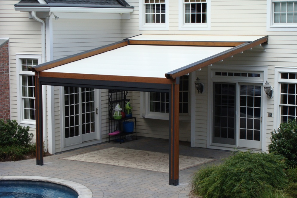 Picture of: Amazing Retractable Pergola