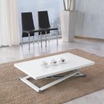 Amazing White Lacquer Coffee Table