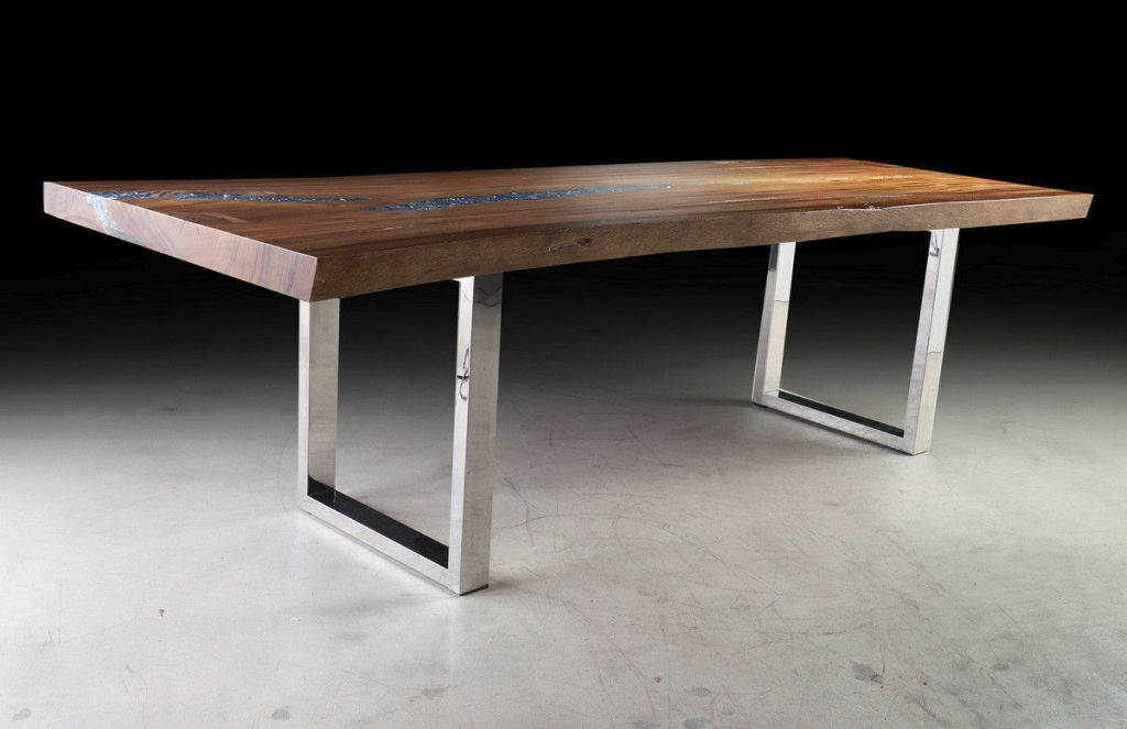 Image of: Amazing Wood Slab Dining Table