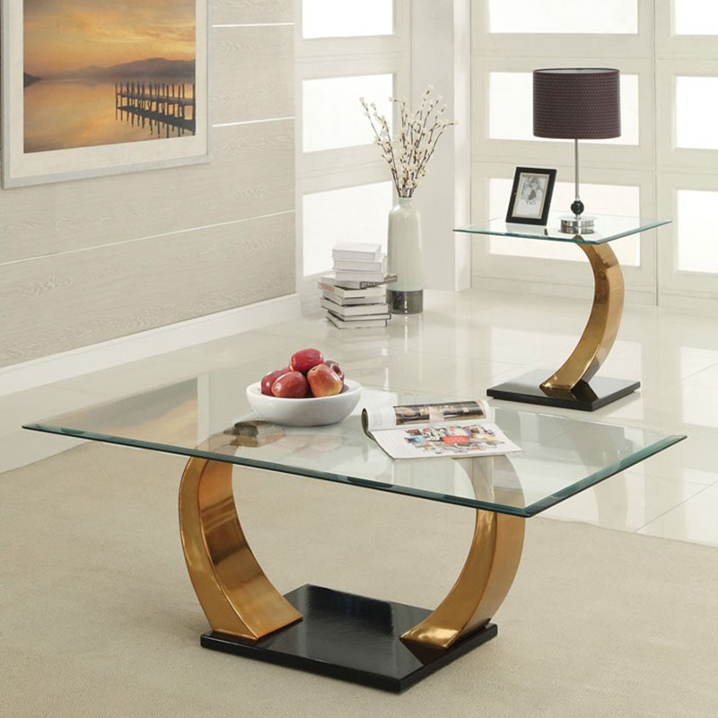 Picture of: Amazing glass coffee table sets