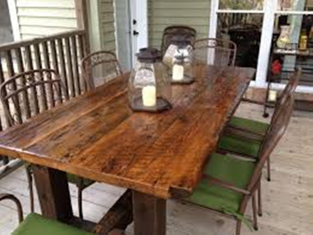 Picture of: amish barn wood tables
