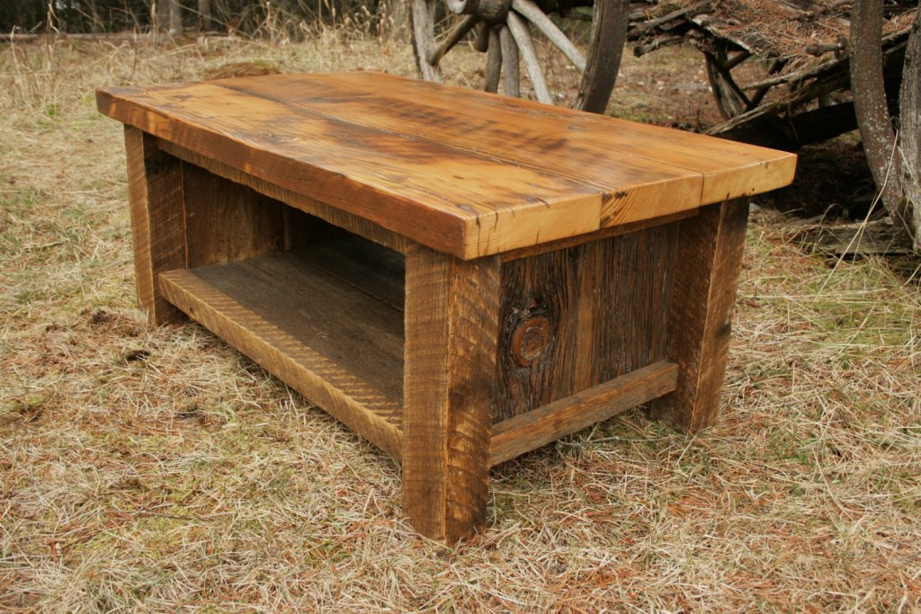 Picture of: amish made barn wood tables