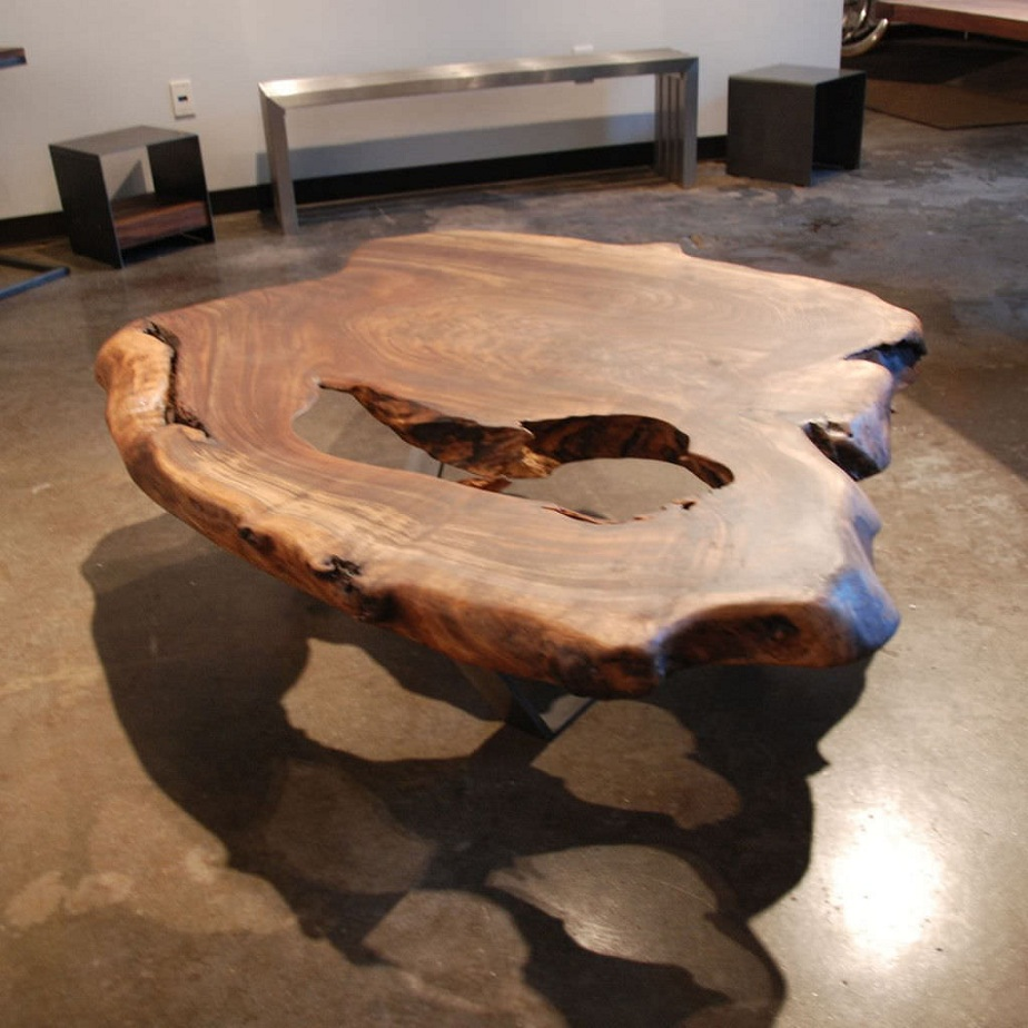 Picture of: Antique Natural Wood Coffee Table