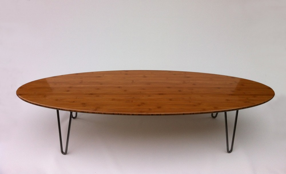 Antique Oval Wood Coffee Table