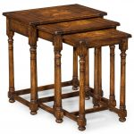 Antique Wood Nesting Tables'