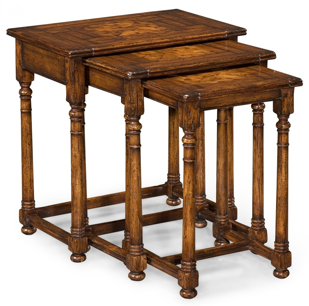 Image of: Antique Wood Nesting Tables'
