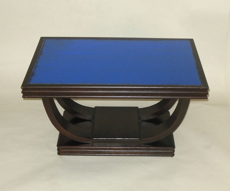 Picture of: Art Deco Coffee Table Cobalt Blue